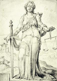 Justitia by  Maarten van Heemskerk, 1556