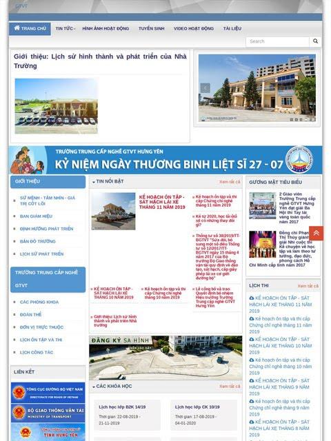 Website trường Trung cấp nghề GTVT Hưng Yên - Ảnh 1