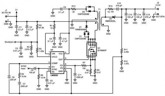 LM5020, a High Voltage – High Speed PWM Controller Datasheet