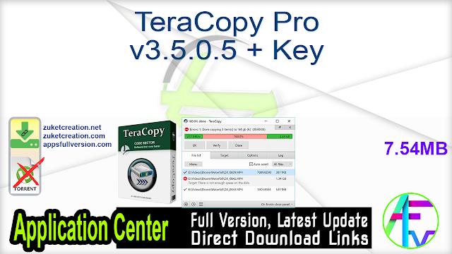 TeraCopy Pro v3.5.0.5 + Key