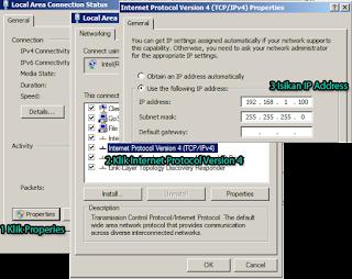 Setting IP Address Server