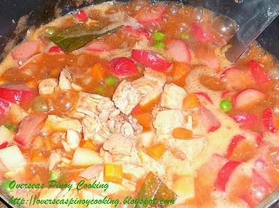 Chicken  Menudo - Cooking Procedure