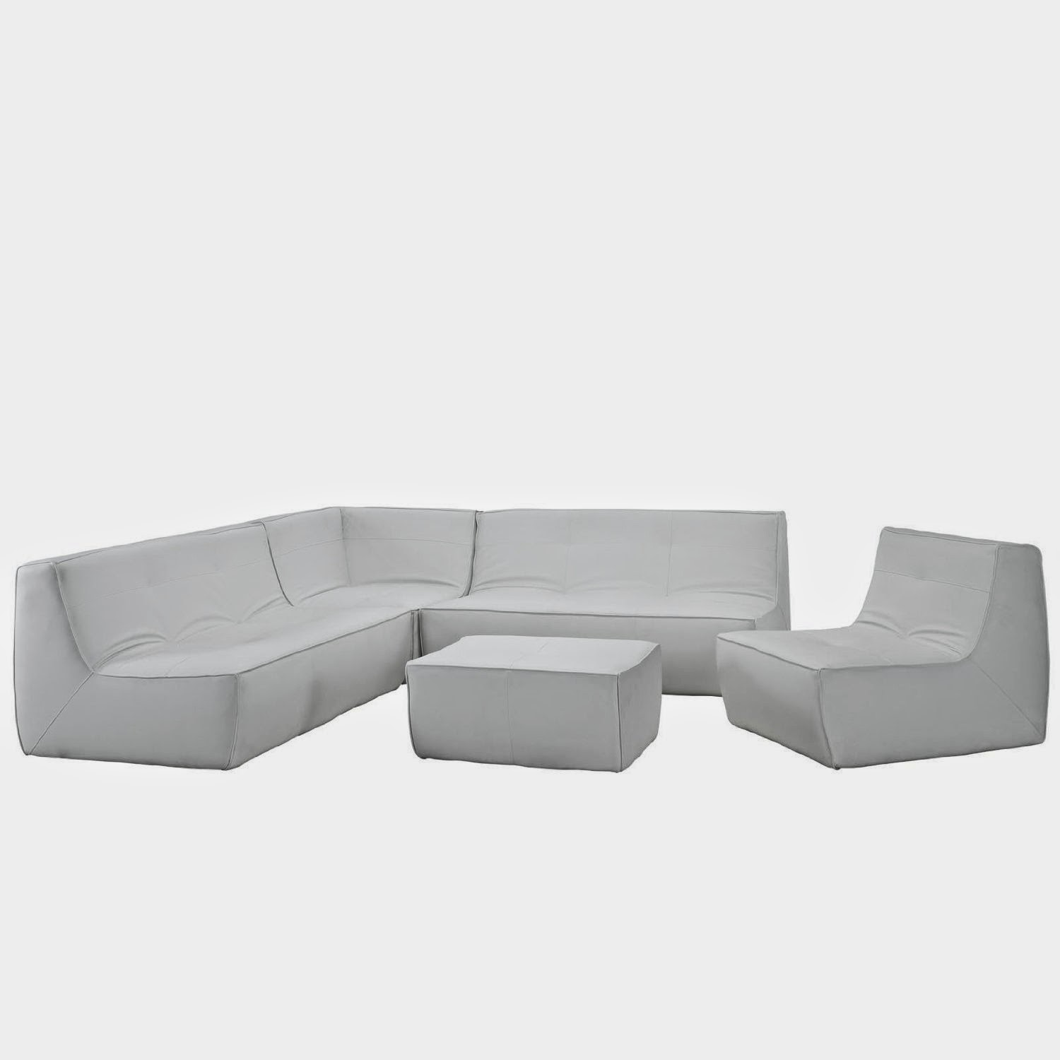 White Leather Sectional Sofa Sets