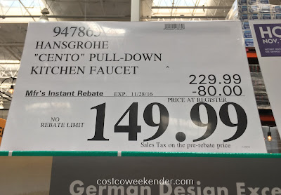 Deal for the Hansgrohe Cento Pull-Down Kitchen Faucet at Costco