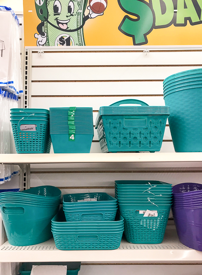 Dollar Tree storage baskers