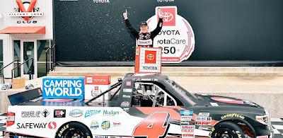 John Hunter Nemechek Takes Checkered Flag in ToyotaCare 250 NASCAR Camping World Truck Series Race