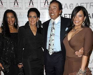 Frances Glandney with her husband Smokey Robinson & daughters