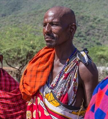 Maasai people live in the East African savannah.