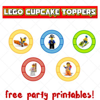 lego party printables, free lego printables, lego cupcake toppers
