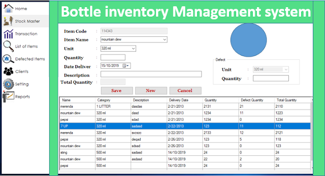 Bottle Inventory Management System In c# with Source Code