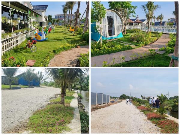 một số hình ảnh thực tế trong dự án happy garden hồ tràm
