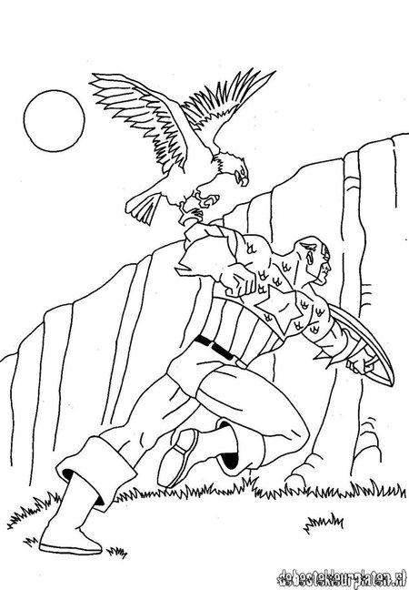 disney captain america coloring pages - photo#33
