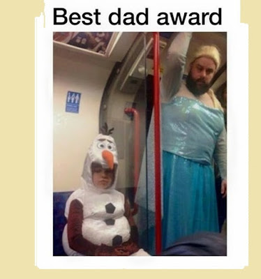 3- elsa ( best dad award )