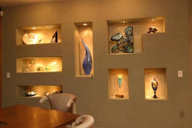 Wall Niche design ideas for modern home interior wall decoration