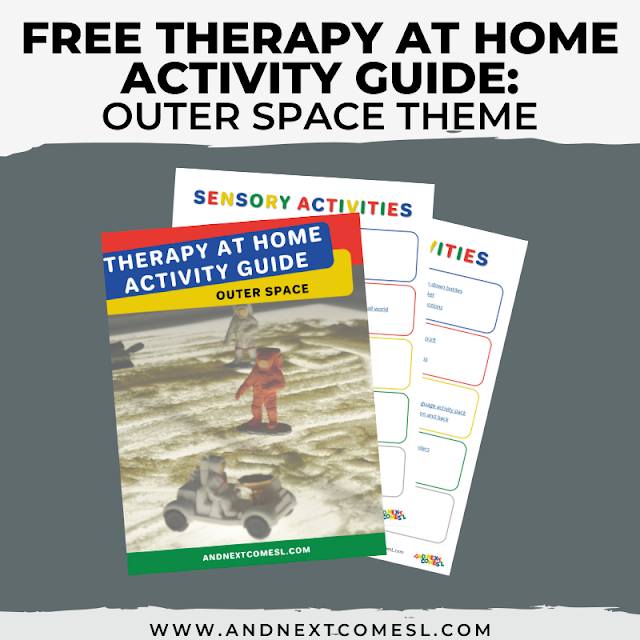 Outer space themed activities for kids that can be done as therapy at home