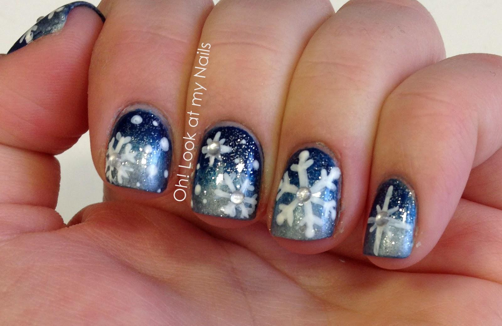 Oh! Look at my Nails: Snowflake Nail Art