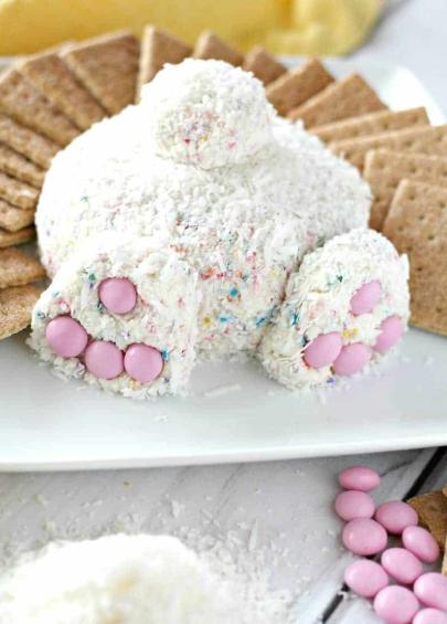 Bunny Butt Cheese Ball Easter Dessert