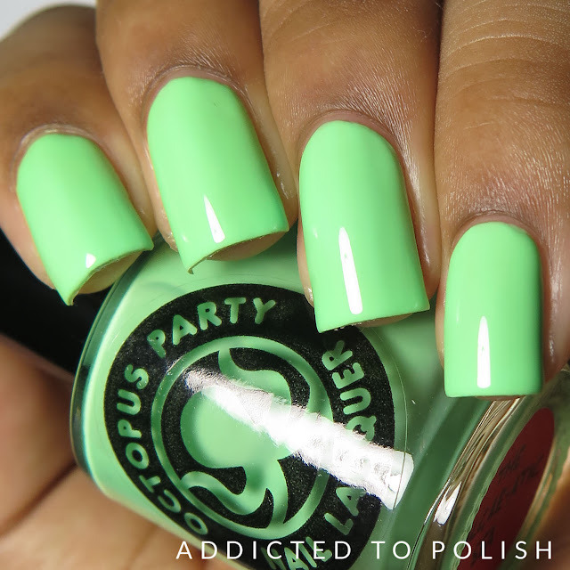 octopus party nail lacquer the algaeatic sea creme a la mode box spring 2016
