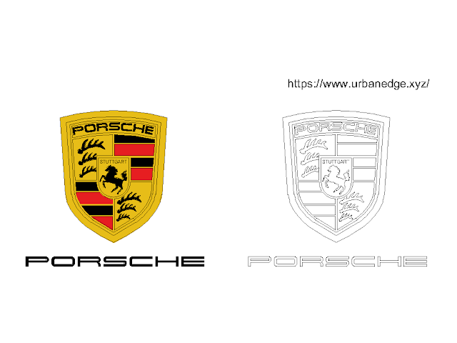 Porsche Car logo free cad block download