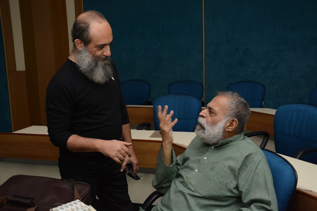 Artist Sanjay Bhattacharya with Suneet Chopra