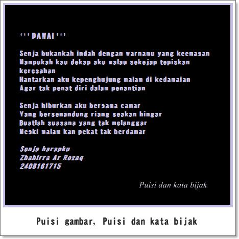 Puisi aku dan dirimu tanpa dawai rasa