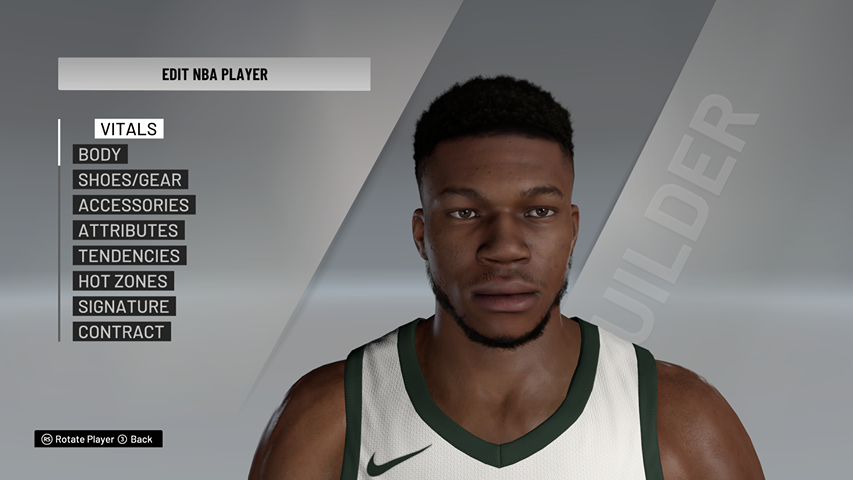 Giannis Antetokounmpo Cyberface, Hair Update And Body Model By Bizzle [FOR 2K21]