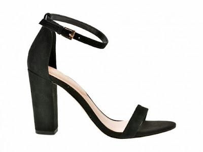 Sandale ALDO negre, cu toc gros elegante din piele naturala intoarsa