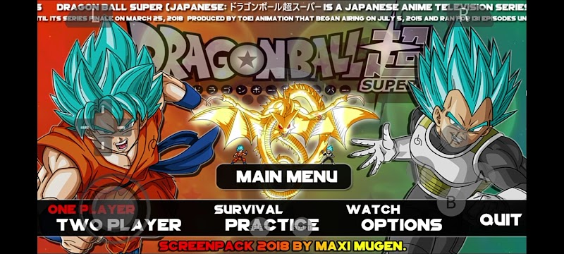 Dragon Ball Fighters Warrior Mugen for Android & iOS Download
