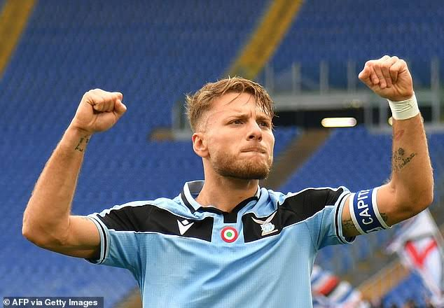 Ciro Immobile has become the first player in Lazio's 120-year history to score 30