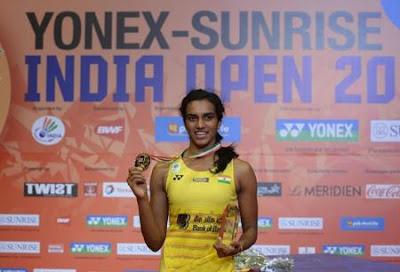 पीवी सिंधू ने कैरोलिना मारिन को हराकर इंडिया ओपन सुपर सीरीज 2017 का खिताब जीता