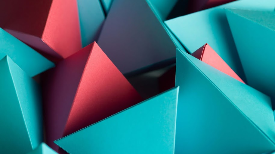 3D, Triangle, Polygon, Abstract, 4K, #35