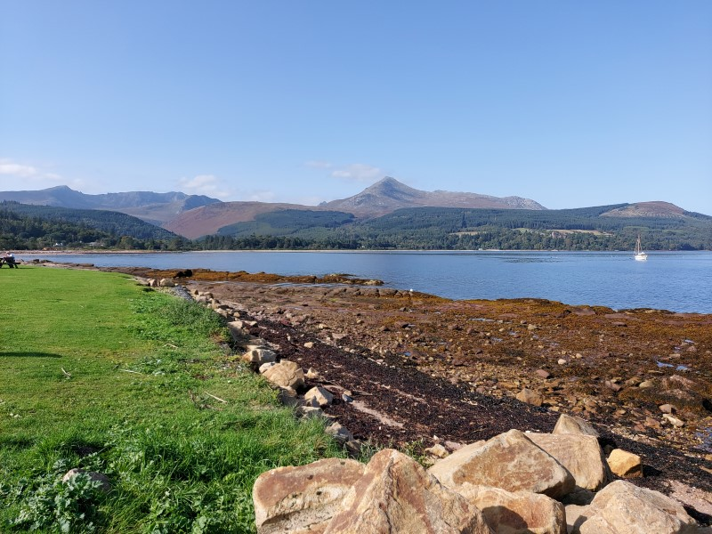 View towards Goatfell from Brodick