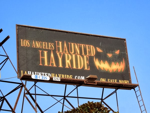LA Haunted Hayride Jack O Lantern billboard