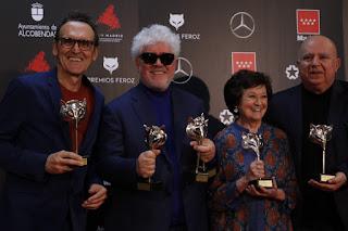 Equipo 'Dolor y Gloria' en los Premios Feroz 2020