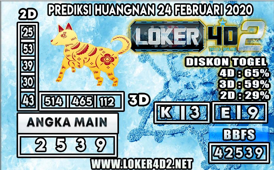 PREDIKSI TOGEL HUANGNAN LOKER4D2 24 FEBRUARI 2020