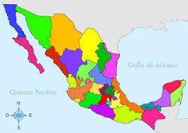 mapa de imagen con las provincias de mexico