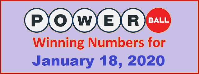 PowerBall Winning Numbers for Saturday, January 18, 2020