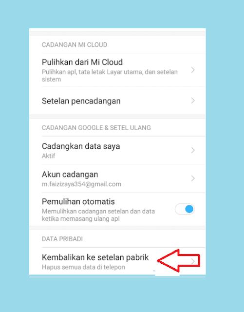 Reset HP Xiaomi Lemot