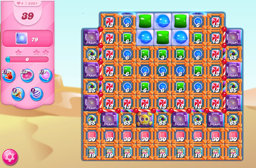Candy Crush Saga level 8361