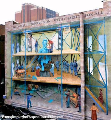 People's Progression Toward Equality Wall Mural in Philadelphia Pennsylvania