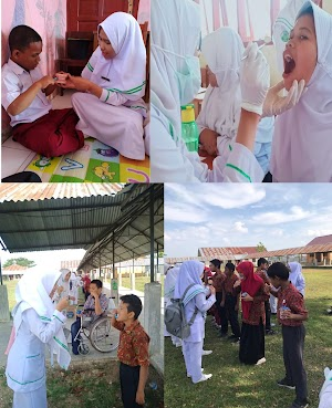 Sikat Gigi Bersama di SLB Negeri Pembina Provinsi Aceh
