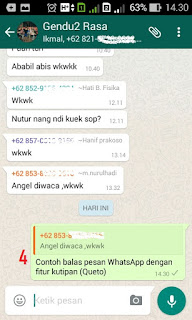 Cara Balas Pesan WhatsApp Menggunakan Fitur Kutipan (Queto)