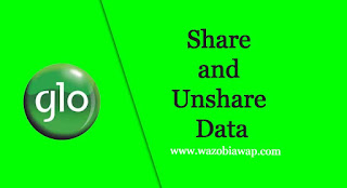 how to unshare glo data