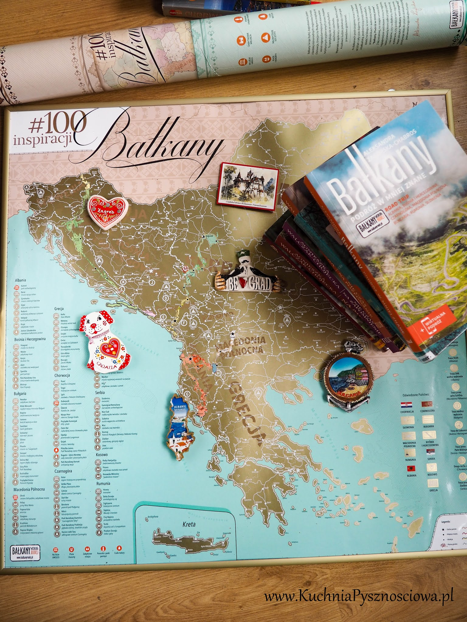 mapka zdrapka książki dla podróżników