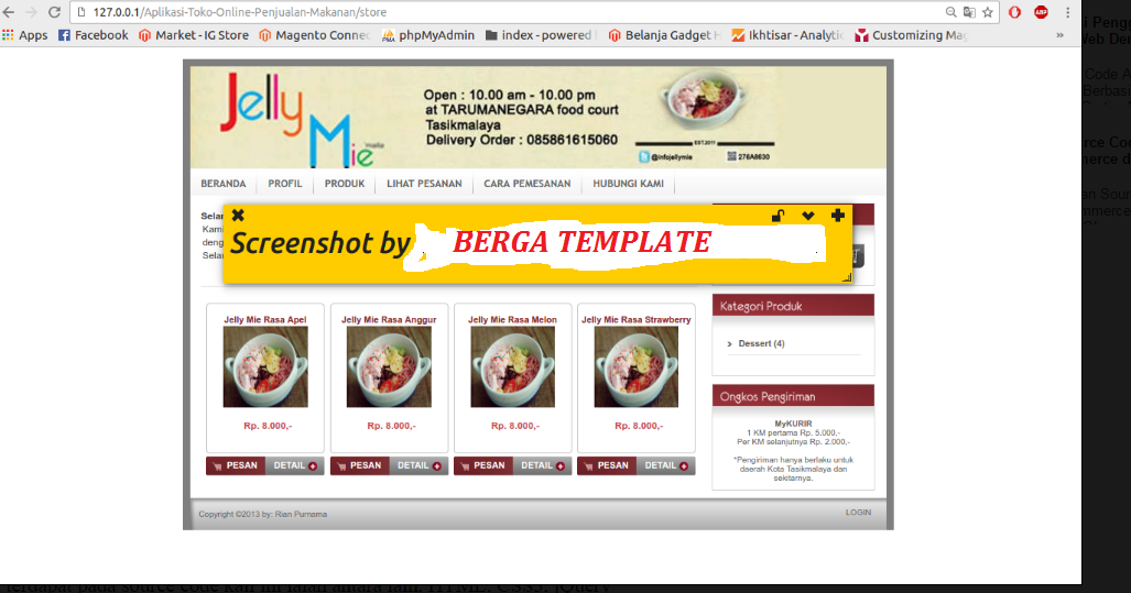 Cara Mudah mEmBuat WEB Toko Online Penjualan Makanan