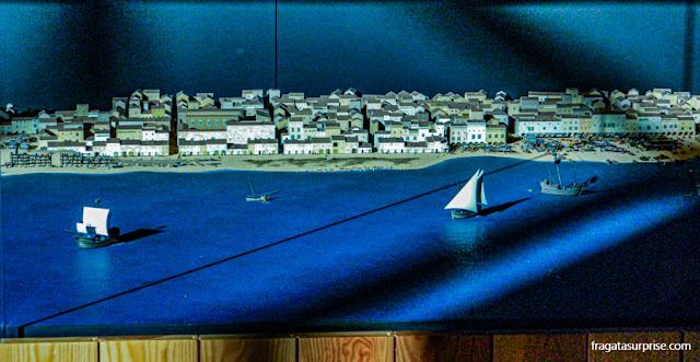 Maquete do Porto de Barcelona no Século 15