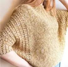 Blusa Girasol a Crochet