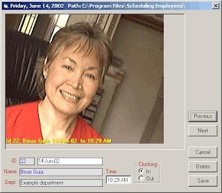 Picture TimeClock - Software gratuito para Controlar el horario de entrada y salida de empleados