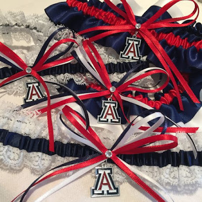 University of Arizona Wildcats Wedding Garters