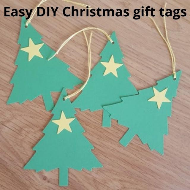 Easy DIY Christmas gift tags